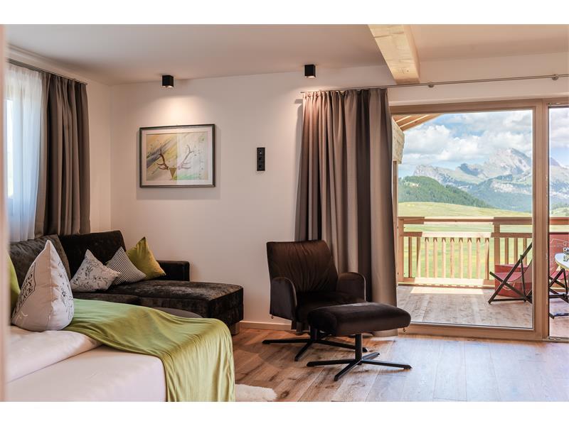 Hotelzimmer Hartl mit Blick