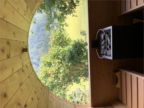Unsere kleine Sauna mit