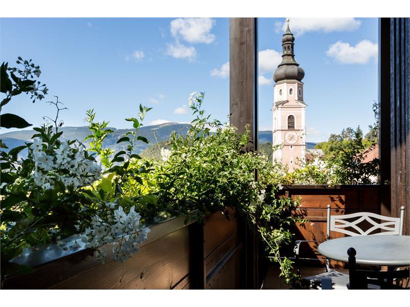 Vista dal balcone verso il centro storico
