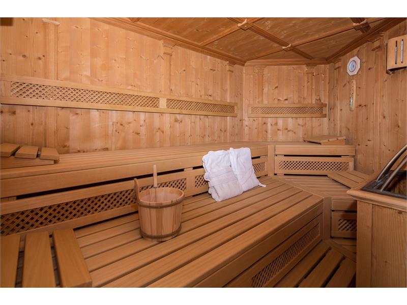 Sauna im Apartment-Haus Rossboden in Vöran, Südtirol
