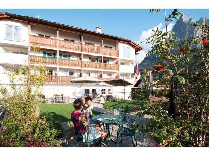 Garten hinter dem Hotel