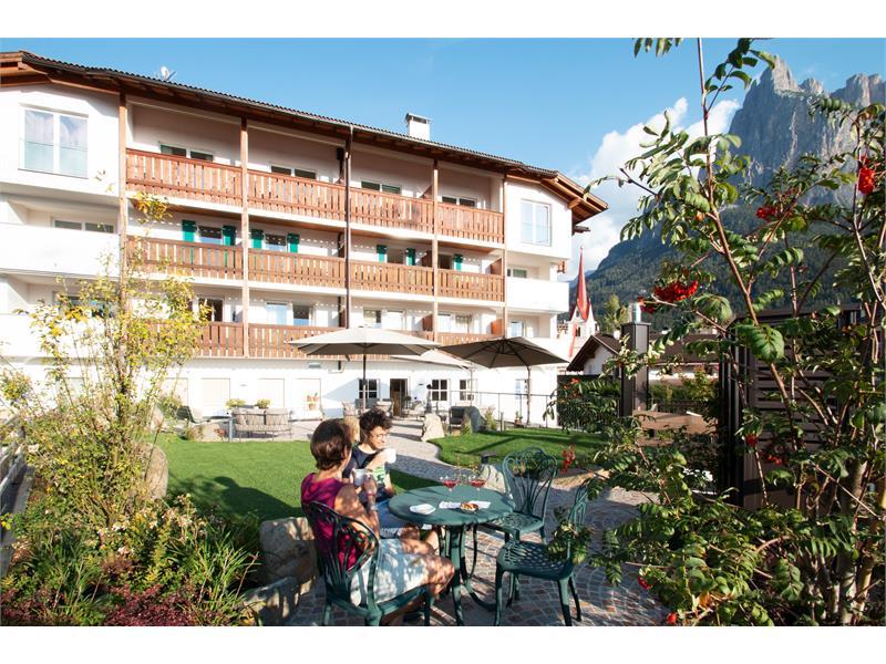 Garden behind the hotel