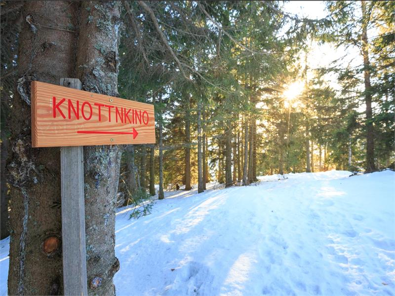 Also very worthwhile in winter - a hike to the Knottnkino