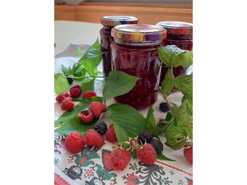 our homemade raspberry jam