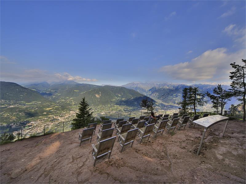 Il Knottnkino con vista sulla Val d'Adige