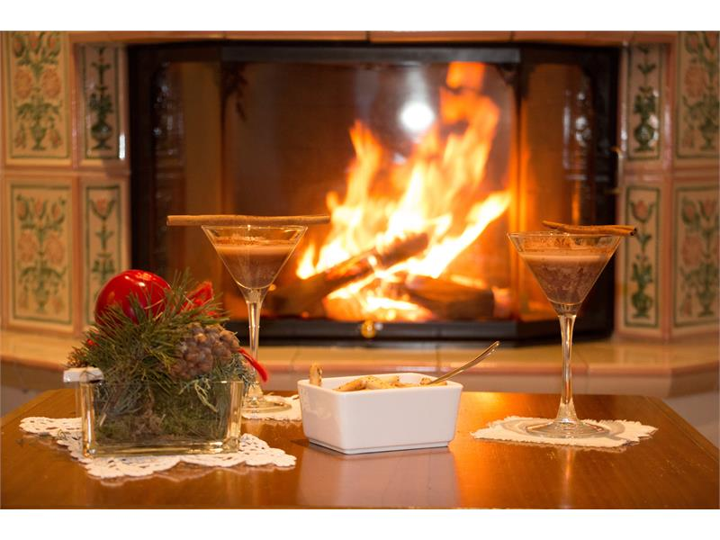 Feel at home by the fireplace