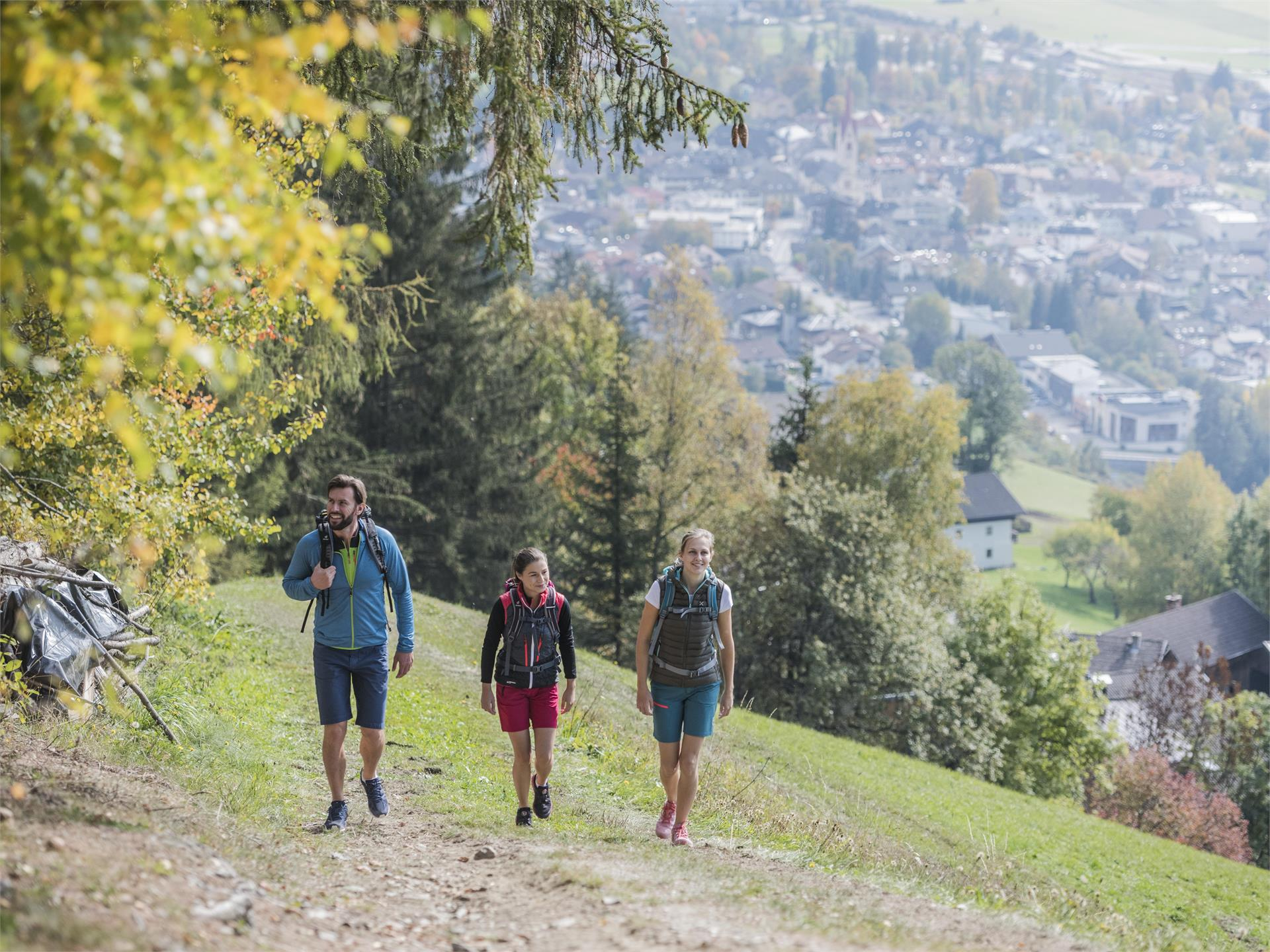 Hiking tour on the Dolomites Panorama Trail