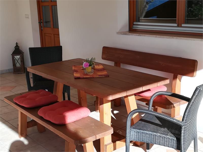 Terrazza appartamento Stella Alpina