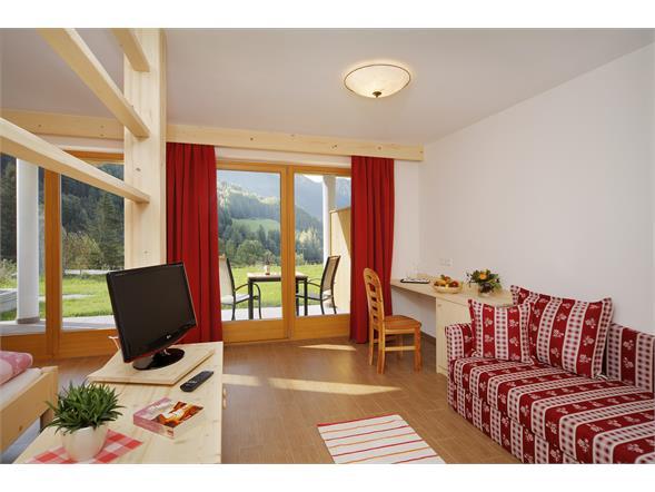 Camera panoramica con balcone