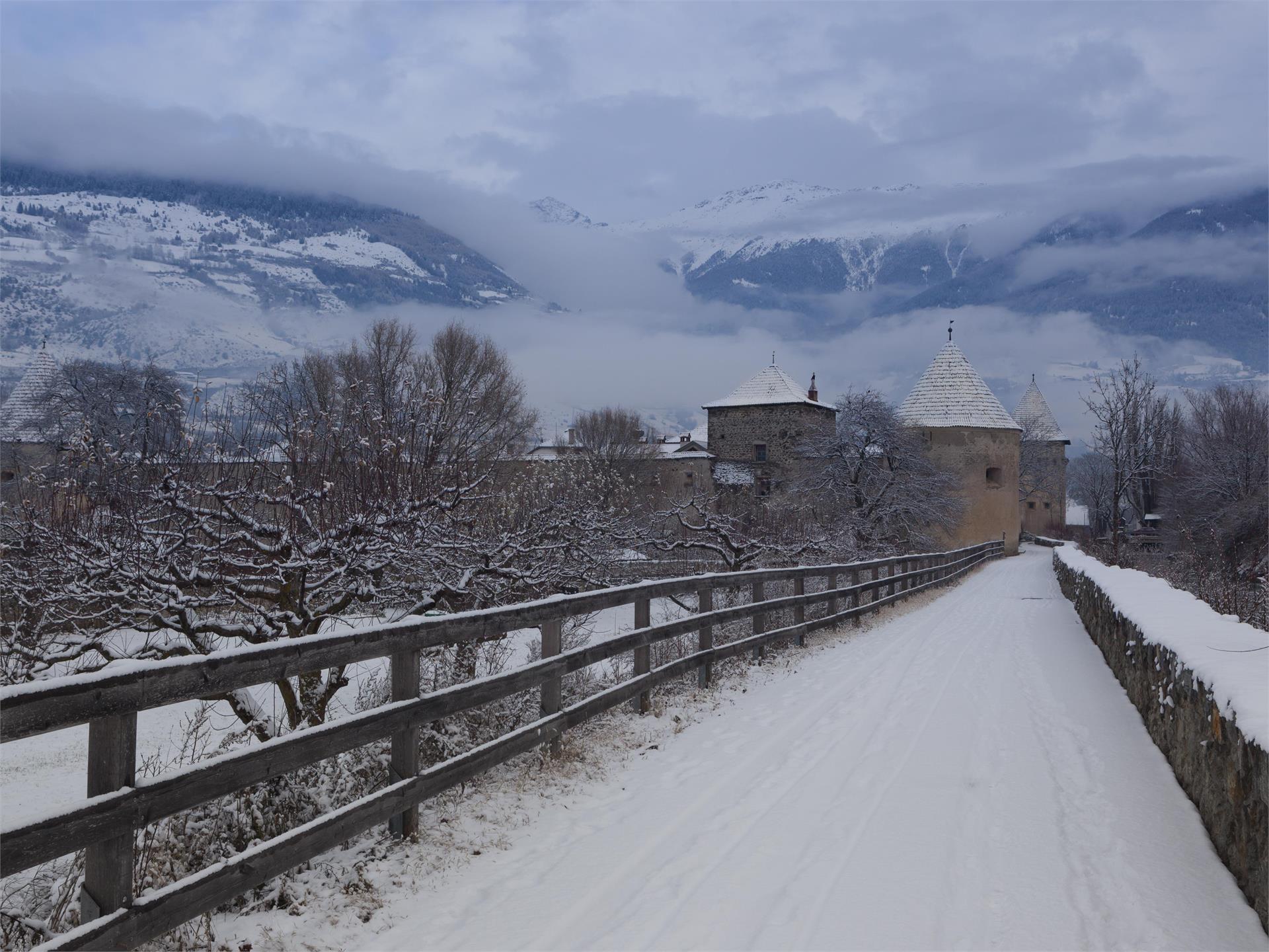Visita guidata in inverno attraverso la cittadina medioevale