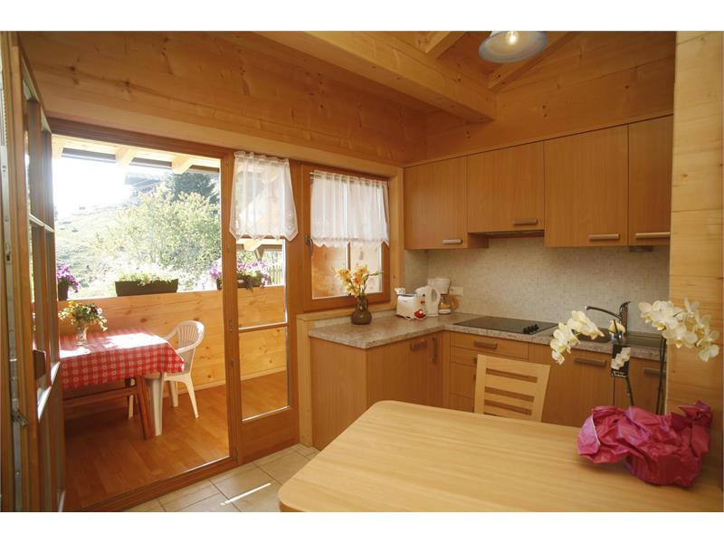 Die Küche in der Ferienwohnung Sonnseite