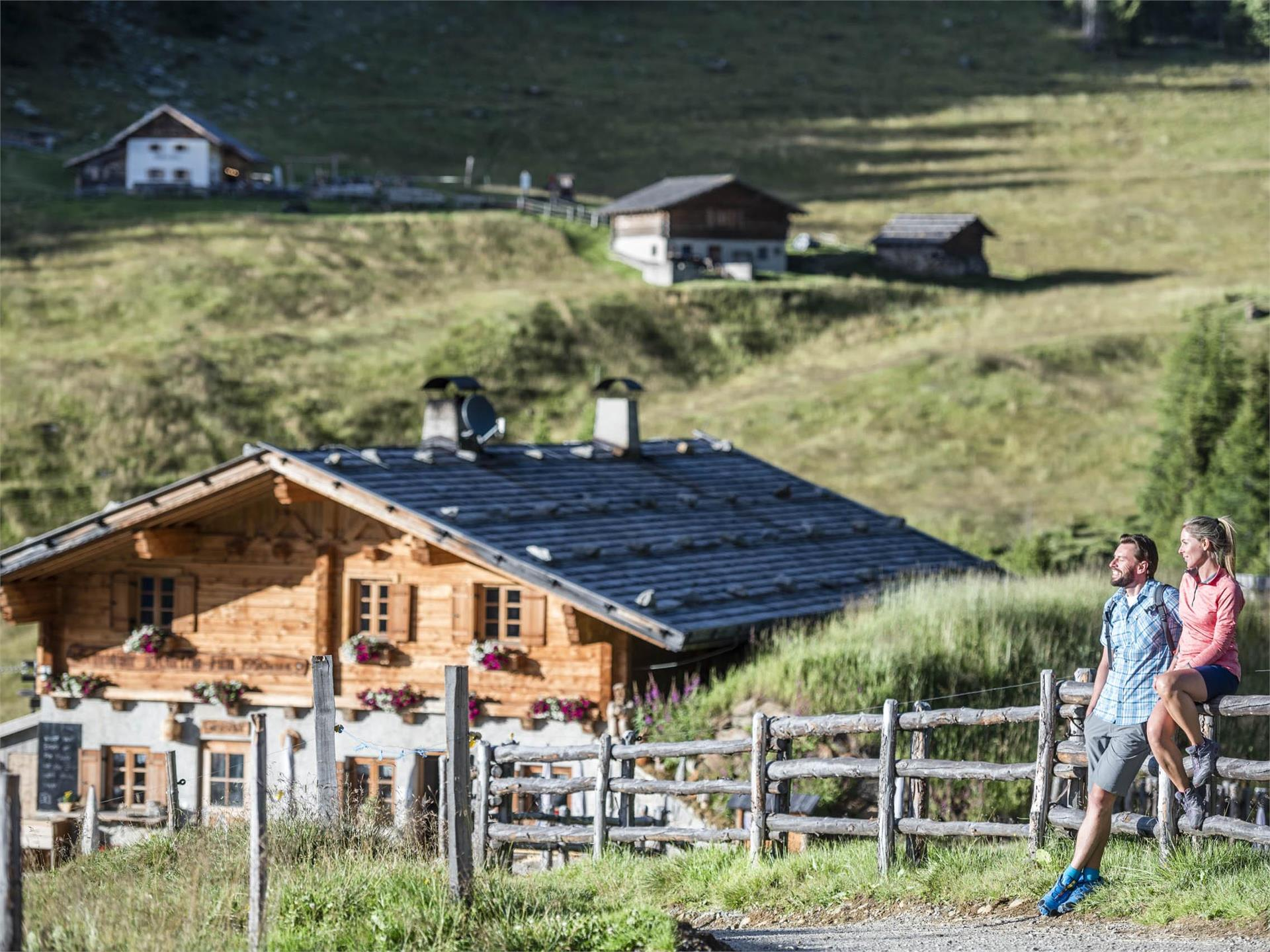 "Taking the European long-distance path ""E5"" to the Hinteregger Alm"