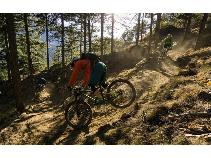 Mountainbike am Sonnenberg im Vinschgau
