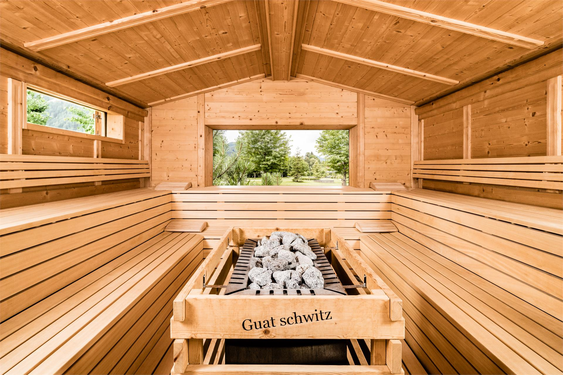 Sauna in baita all'aperto