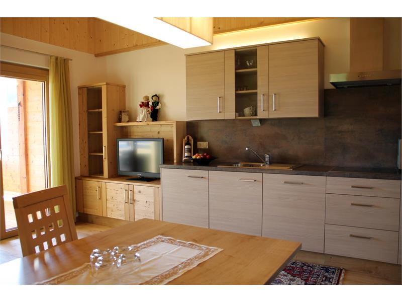 Moderna cucina abitabile - Maso Thalerhof a Verano, Alto Adige