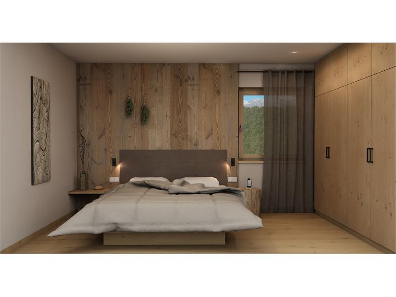 Camera da letto staccata con letto matrimoniale