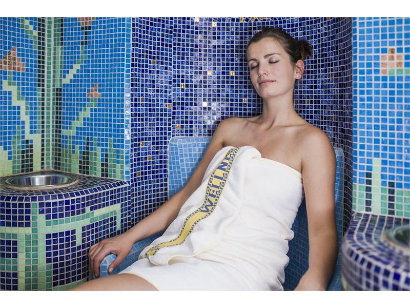 sauna with herbal bath