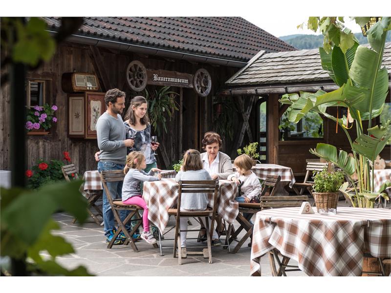 Sunny terrace Gasthof zu Tschötsch