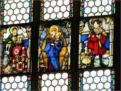 Glass paintings of the parish church
