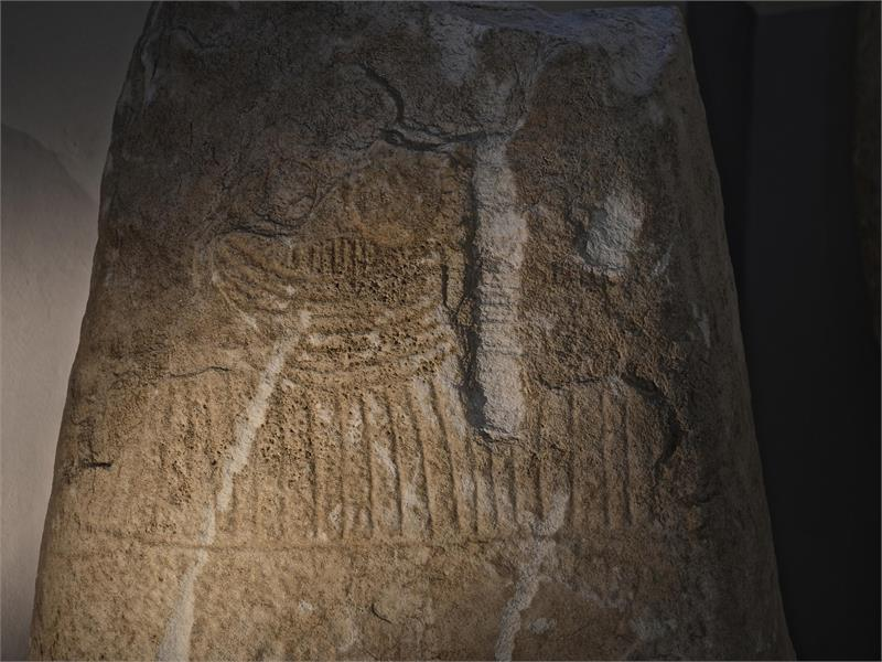 Menhir exhibition in the Schlandersburg castle