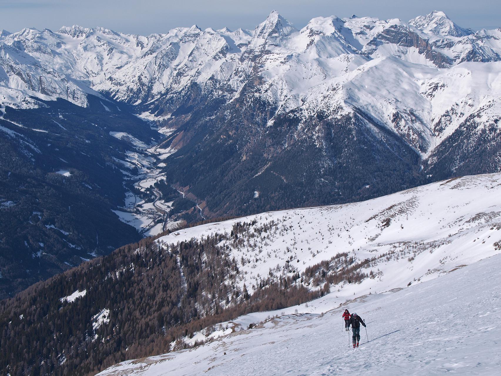 Skitour auf das Hühnerspiel (Amthorspitze)