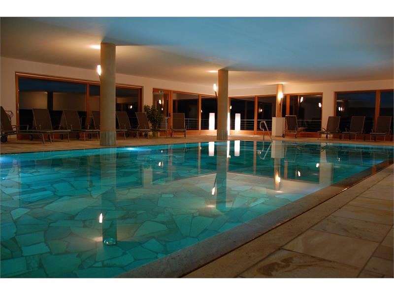 Indoor swimmingpool with panorama view
