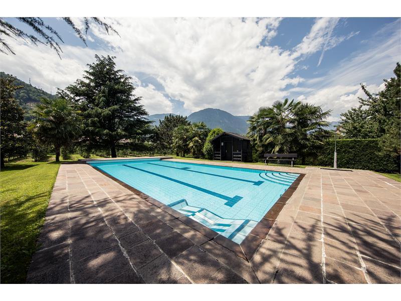 Parco con piscina all'aperto