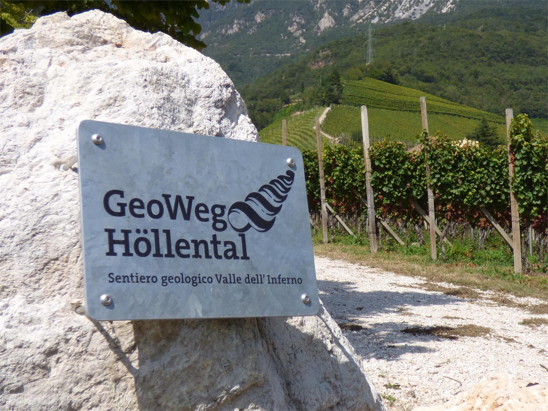 Themenweg GeoWeg Höllental in Tramin