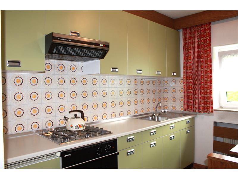 La cucina dell'appartamento