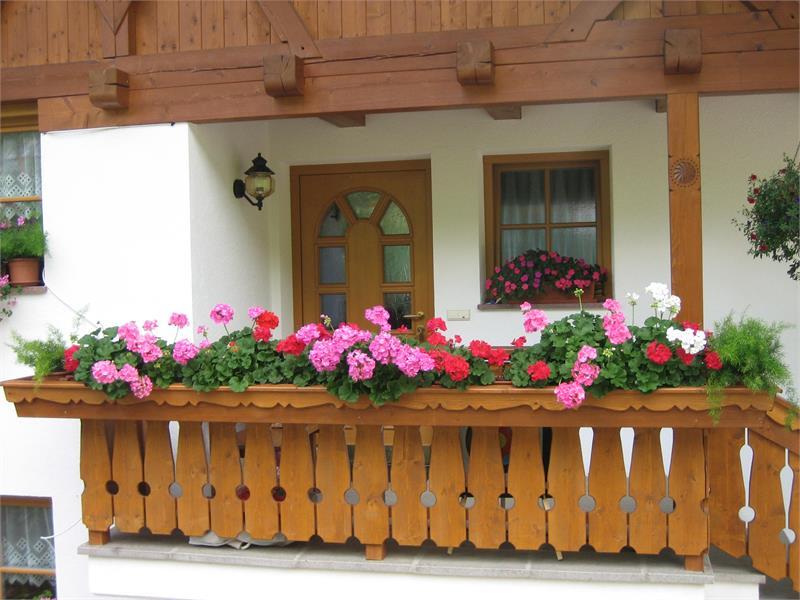 Aufgang Ferienwohnung mit Balkon Nord