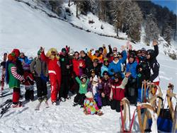 Carnival- Fun race in the ski area Watles