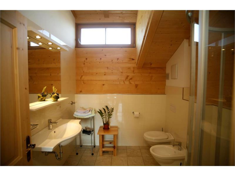 Das Badezimmer in der Ferienwohnung Sonnseite