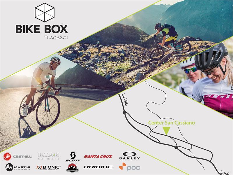 Kletterausrüstung Verleih Innsbruck : Bike box by lagazoi in san cassiano roter hahn
