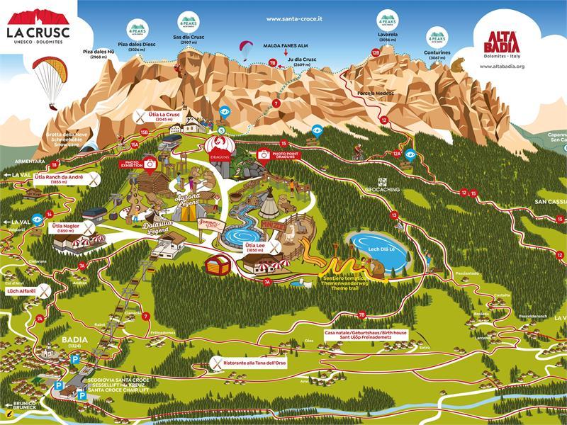 SummerPark La Crusc Karte