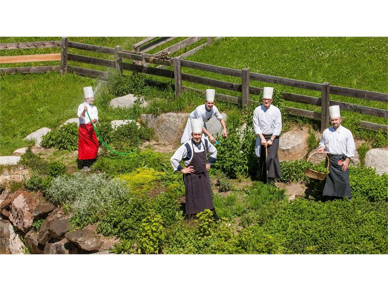 The kitchen team at the Hotel Falzeben