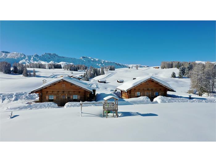 Mooshütten im Winter