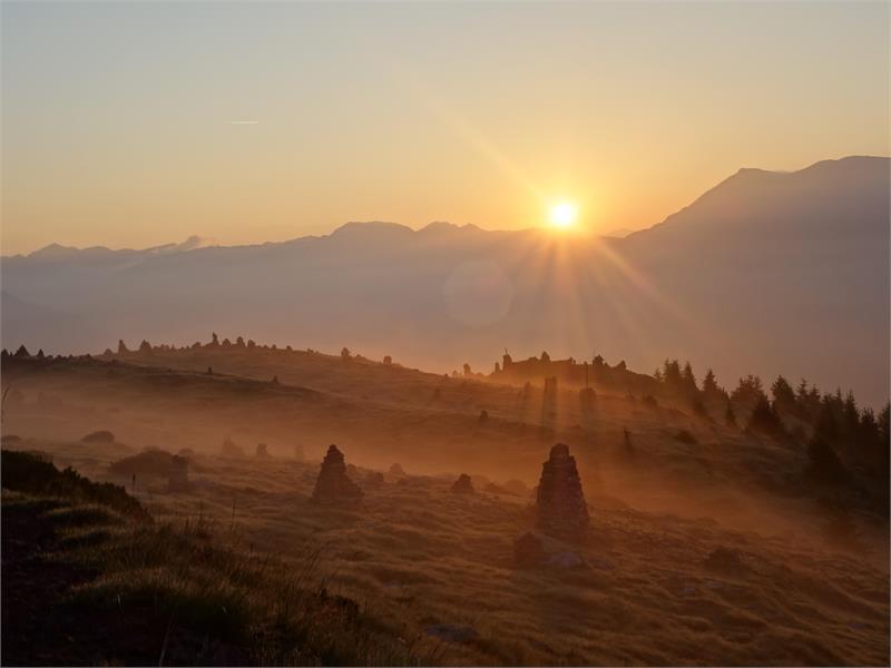 Sonnenaufgang auf den Stoanernen Mandln