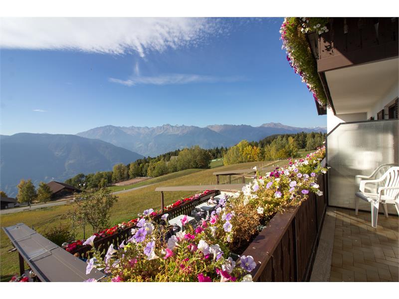 Balcony with panoramic views - Alpenrose in Vöran/Verano