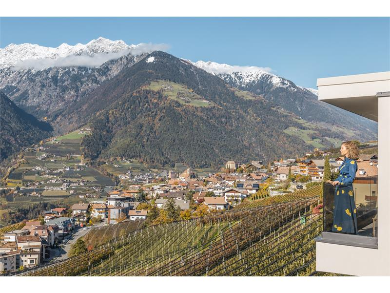 Balcony with mountain view