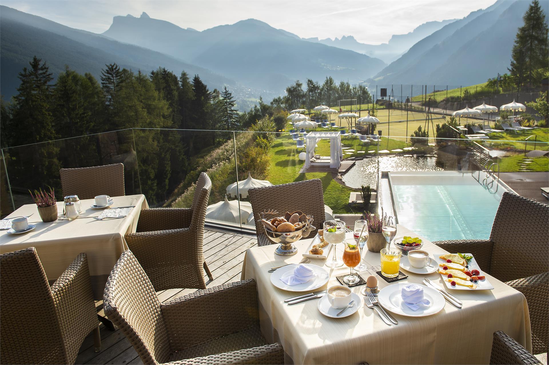 Frühstück im Freien