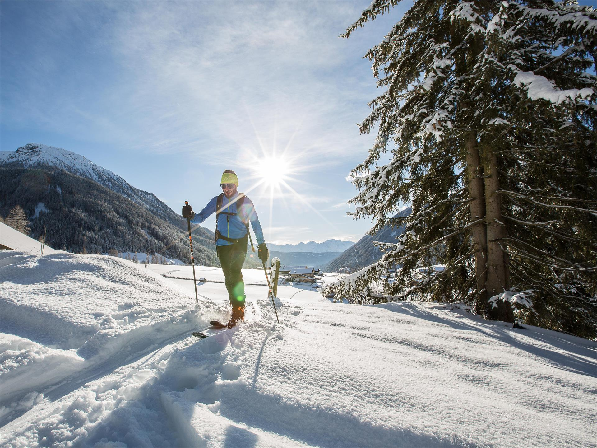 Ski Tour: Hochkreuzspitze in S. Maddalena/Gsieser Tal Valley