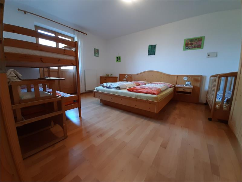 the bedroom of the appartment