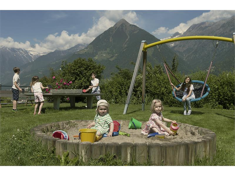 Large children's playground with trampoline - for our young guests