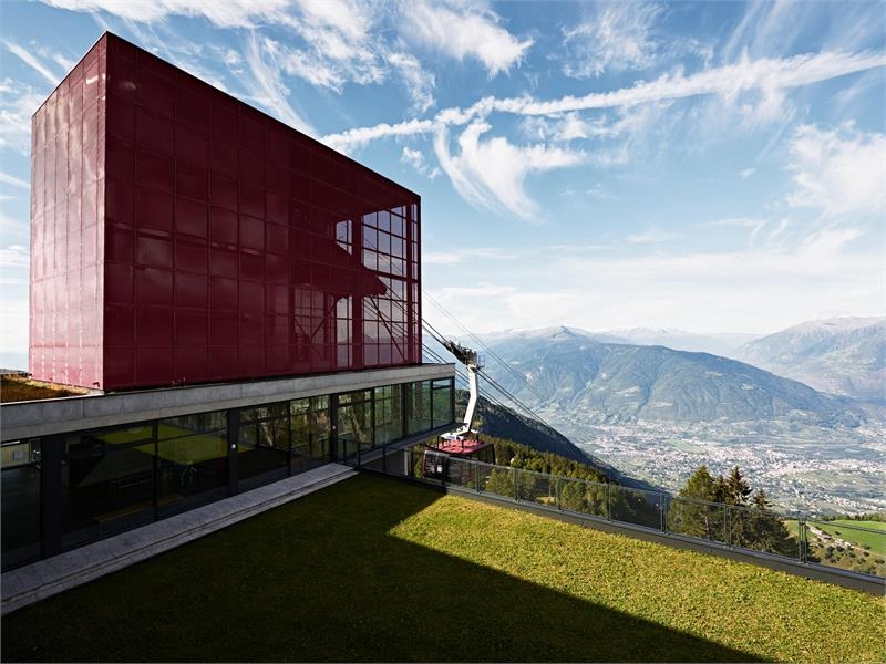 Mountain station of Merano 2000 - view over Merano