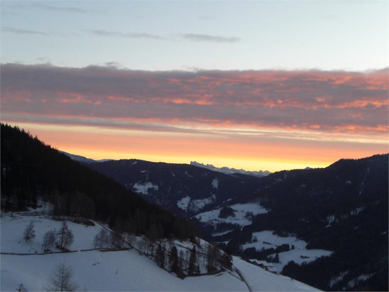 Der Sonnenaufgang am Niederhaushof