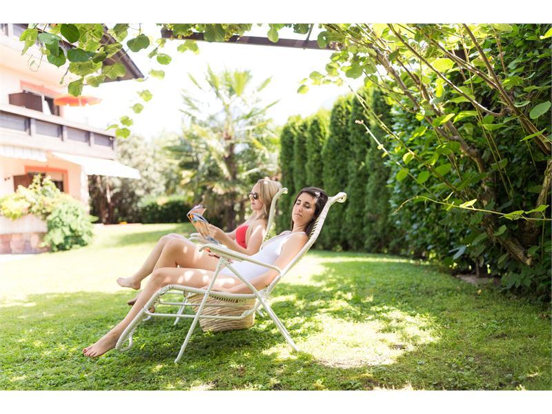 Mediterranean garden with sunbathing area