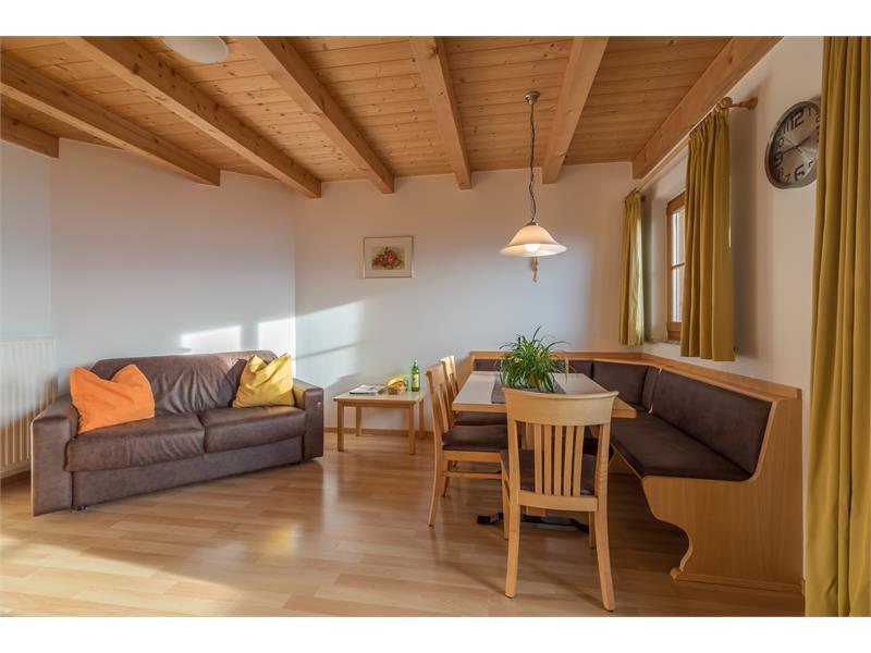 Wohnzimmer - Ferienwohnung Rosmarin Wieserhof Vöran