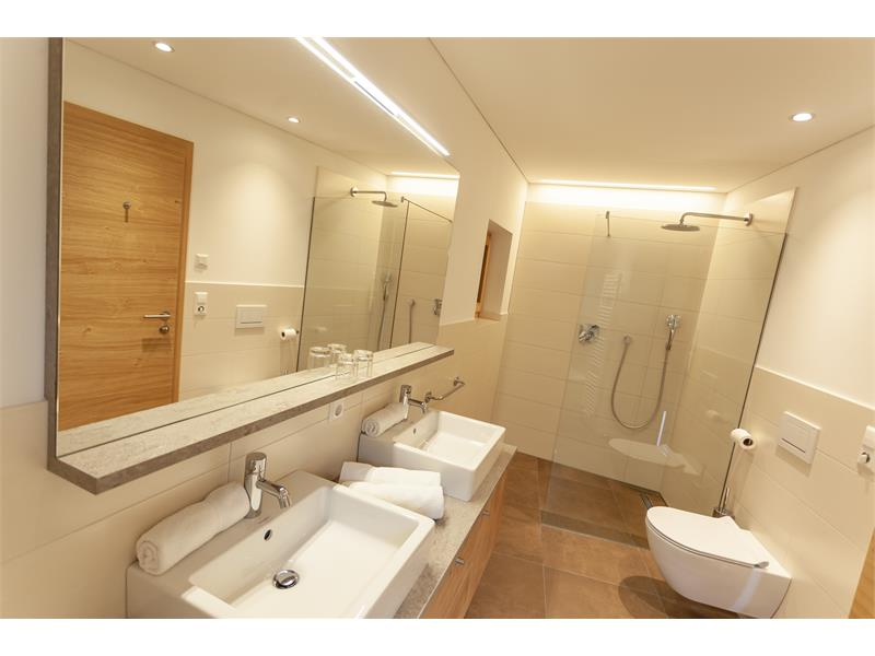 bathroom | holidays in Naturns | Residence Nischlhof