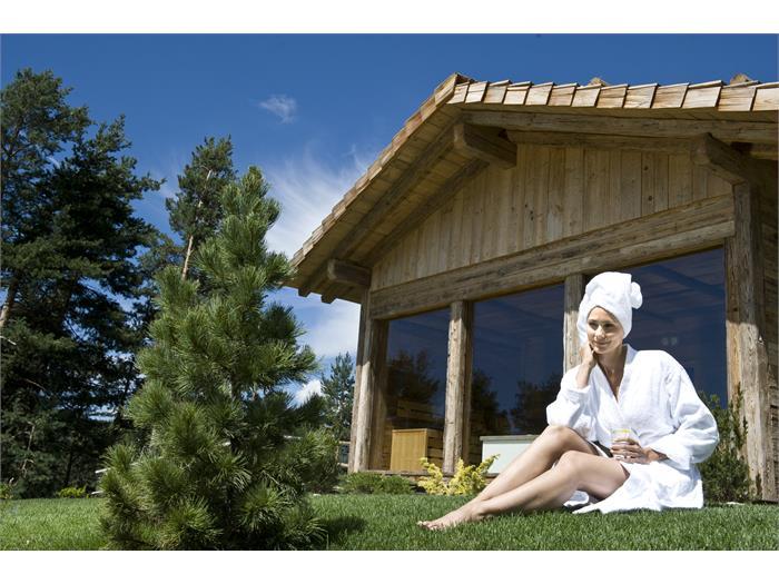 sauna finlandese in giardino