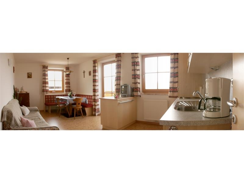 La cucina ed il soggiorno - Maso Ganthalerhof